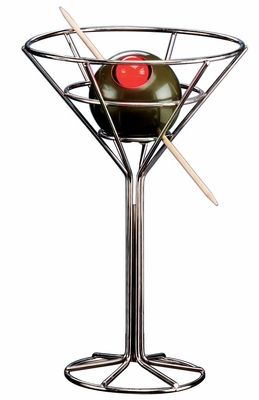 Novelty Lamp - Martini Lamp in Chrome / Plastic Green Olive - LumiSource - DK0181