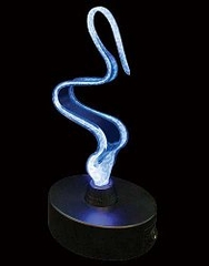 Novelty Lamp - Mini Ribbon Electra Lamp in Blue / Blue - LumiSource - LSE-RE3SM-BB