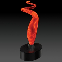 Novelty Lamp - Mini Sculptured Electra Lamp in Red / Red - LumiSource - MH-SE3SM-RR