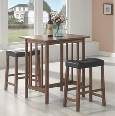 Nut Brown Bar Table and Stool 3PC Set - 130004