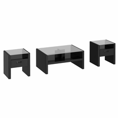 NY Skyline 3 Piece Occasional Table Set in Modern Mocha - Kathy Ireland