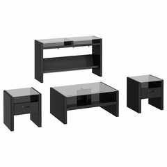 NY Skyline 4 Piece Occasional Table Set in Modern Mocha - Kathy Ireland
