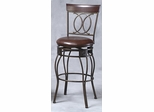 O and X Back Counter Stool - Linon Furniture - 02564MTL-01-KD-U