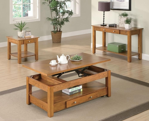 Oak 3PC Occasional Table Set - 701437