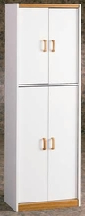 Oak and White Kitchen Storage Pantry - Ameriwood Industries - 4506