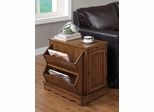 Oak Cabinet Table with Magazine Rack - 700421