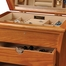 Oak Finish Drop Front Jewelry Box - Juno - Jewelry Boxes by Mele - 00323F10
