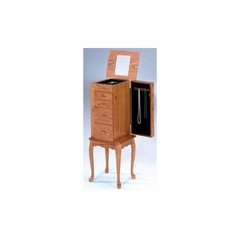 Oak Jewelry Armoire - Bernards