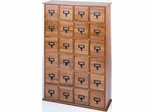 Oak Library Style DVD Cabinet - Leslie Dame DVD Storage - CD-456