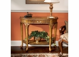Oak Marquetry Design Console Table