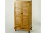 Oak Mission Style Louvered Door DVD Cabinet - Leslie Dame DVD Storage - CD-612V