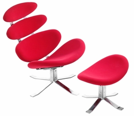 Occasional Chair and Ottoman - Petal Lounge Chair and Ottoman - Zuo Modern - 500006