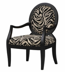 Occasional Chair in Zebra Print - Linon Furniture - 36053NBLK-01-KD