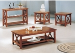 Occasional Table Set in Brown - Coaster