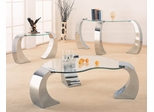 Occasional Table Set in Chrome Plated / Glass - Coaster