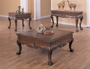 Occasional Table Set in Dark Brown - Coaster
