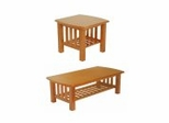 Occasional Table Set in Honey Oak - TSET-3