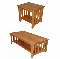 Occasional Table Set in Medium Oak - TSET-4