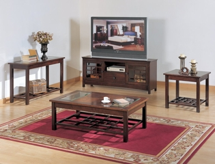 Occasional Table Set in Warm Walnut Finish - 929-TBL-SET