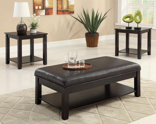 Occasional Table Set with Cappuccino Finish - 701601