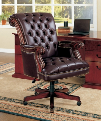 Office Chair in Burgundy - Coaster
