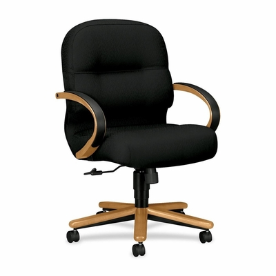 Office Chair Mid Back - Hardwood/Black - HON2192CNT10