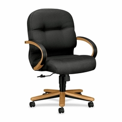 Office Chair Mid Back - Hardwood/Claret - HON2192CNT19