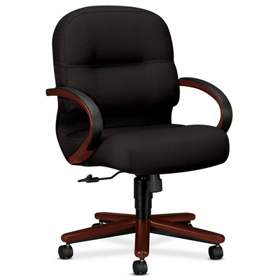 Office Chair Mid Back - Mahogany/Black - HON2192NNT10
