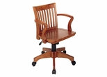 Office Chair - Office Star - 105FW - Deluxe Wood Bankers Chair in Fruit Wood Finish with Wood Seat