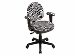 Office Chair - Office Star - DH3412 - Contemporary Swivel Chair with Flex Back and Adjustable Padded Arms
