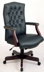 Office Chair - Office Star - TEX232L - Traditional Leather Executive High-Back with Padded Arms