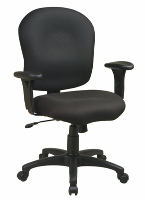 Office Chair - Sculptured Task Chair with Adjustable PU Padded Arms - Office Star - SC66