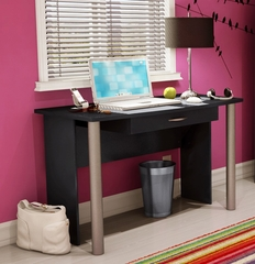 Office Desk in Solid Black - South Shore Furniture - 7270710