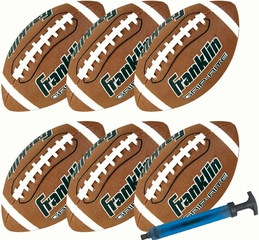 Official GRIP RITE Football - 6 Pack with Pump - Franklin Sports