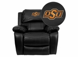 Oklahoma State University Cowboys & Cowgirls Rocker Recliner - MEN-DA3439-91-BK-40028-EMB-GG