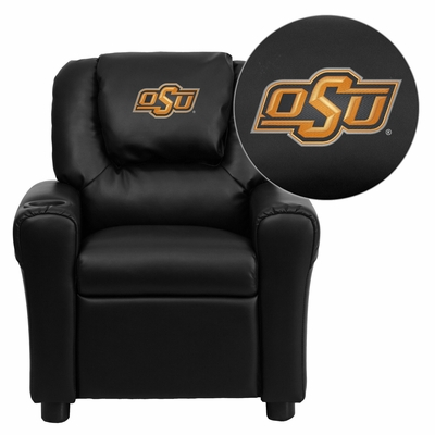 Oklahoma State University Cowboys & Cowgirls Vinyl Kids Recliner - DG-ULT-KID-BK-40028-EMB-GG