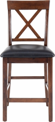 Olsen Oak Casual X-Back Stool - Set of 2 - 439-BS103KD