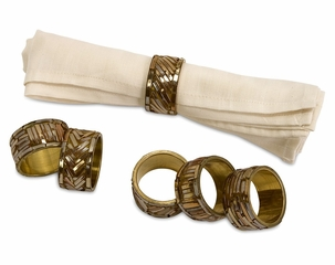Omiska Napkin Rings (Set of 6) - IMAX - 70410-6
