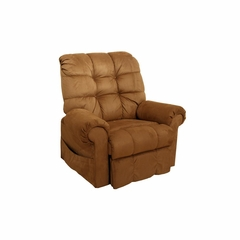 Omni Power Lift Full Lay-Out Chaise Recliner in Saddle - Catnapper