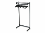 One Shelf Garment Shelf - 12-24 Hangers - Black - QRT20213