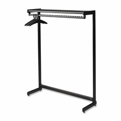 One Shelf Garment Shelf - 16-32 Hangers - Black - QRT20214