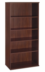 Open Double Bookcase - Series C Hansen Cherry Collection - Bush Office Furniture - WC24414