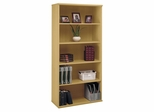 Open Double Bookcase - Series C Light Oak Collection - Bush Office Furniture - WC60314