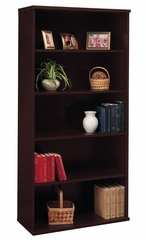 Open Double Bookcase - Series C Mocha Cherry Collection - Bush Office Furniture - WC12914