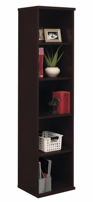 Open Single Bookcase - Series C Mocha Cherry Collection - Bush Office Furniture - WC12912