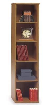 Open Single Bookcase - Series C Natural Cherry Collection - Bush Office Furniture - WC72412