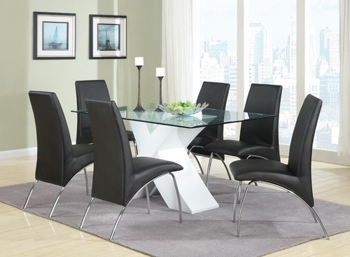 Ophelia 7 Piece Dining Set with X Table - 120821