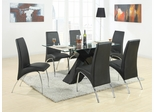 Ophelia Black 7PC Dining Set with X Table - 120811
