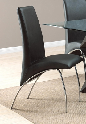 Ophelia Black Dining Chair - Set of 2 - 120802