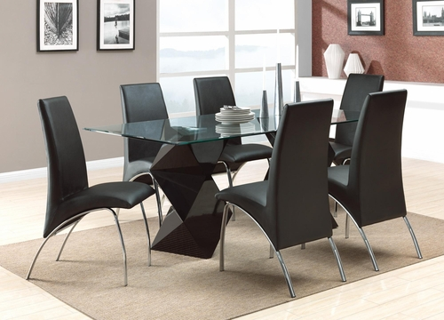 Ophelia Contemporary 7 Piece Dining Set - 120801